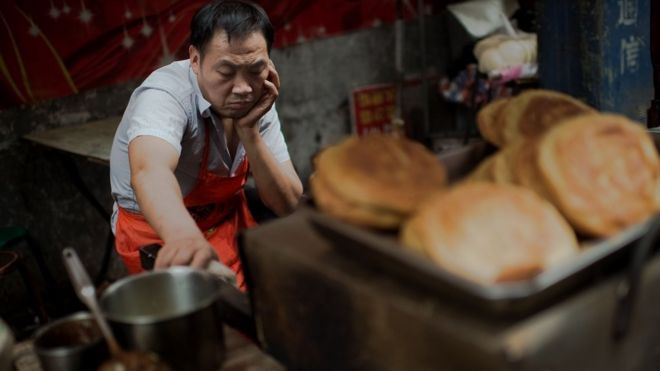 Man at Beijing food stall