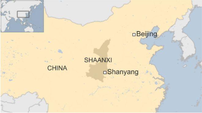 China Shaanxi Location Map • Mapsof.net