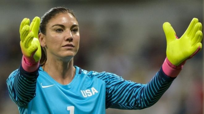 Hope Solo goalkeeper