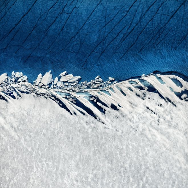 Foto de la costa de Groenlandia