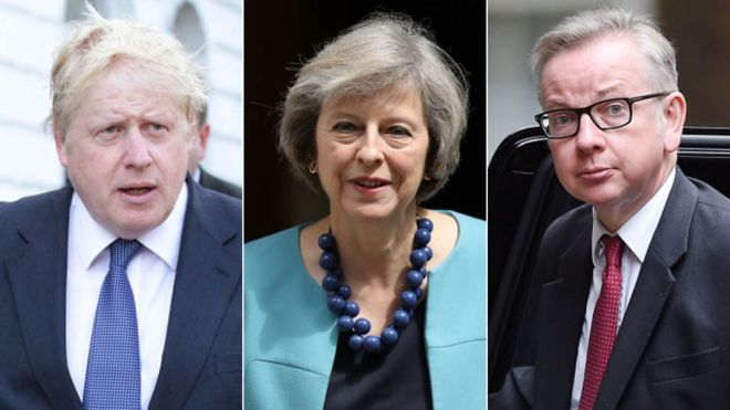 Boris Johnson, Theresa May, Michael Gove