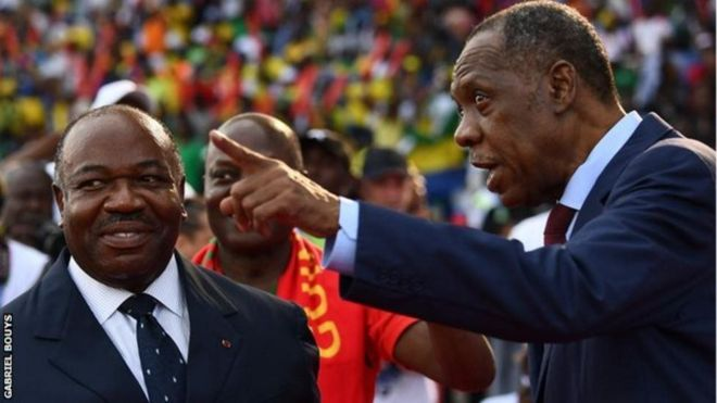 Ali Bongo na Issa Hayatou