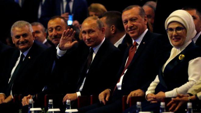 Image result for Putin İlham Əliyev Ərdoğan enerji