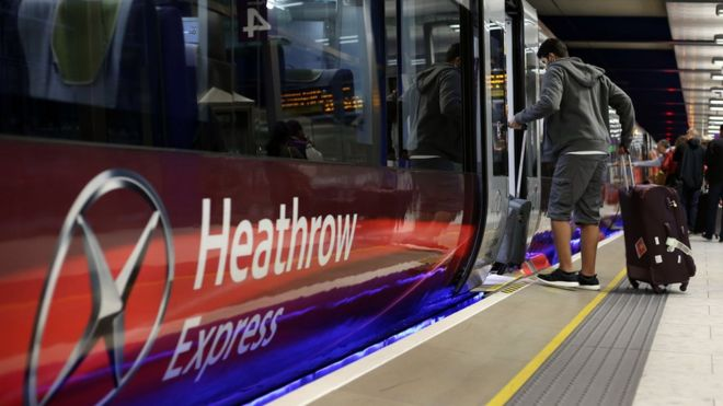 Heathrow Express train
