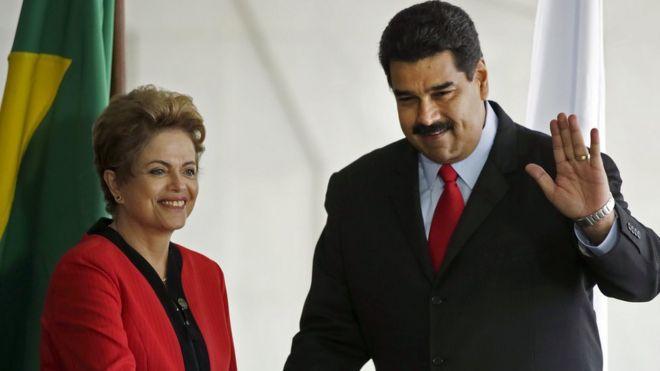 Dilma Rousseff e Nicolás Maduro