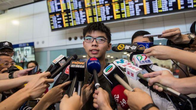 Joshua Wong từng lãnh đạo một nhóm đấu tranh tại Hong Kong phản đối Bắc Kinh