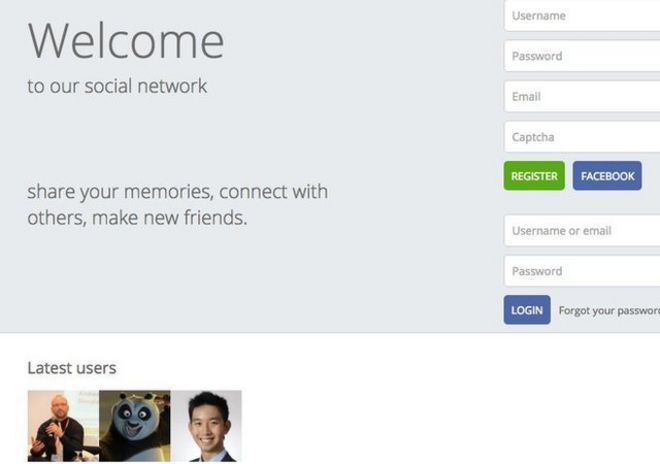 Screengrab of StarCon social network