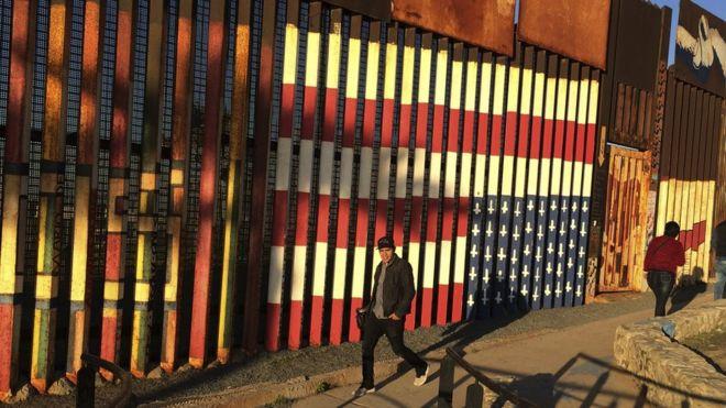 Parte del muro que ya divide la frontera entre México y Estados Unidos.