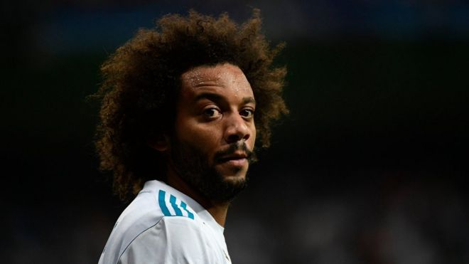 Real Madrid's defender from Brazil Marcelo during a match in Madrid in 13 September