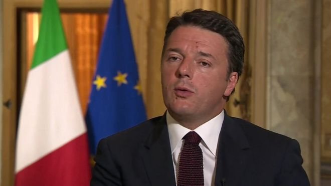 Brexit: Italian PM Matteo Renzi warns UK over EU rights
