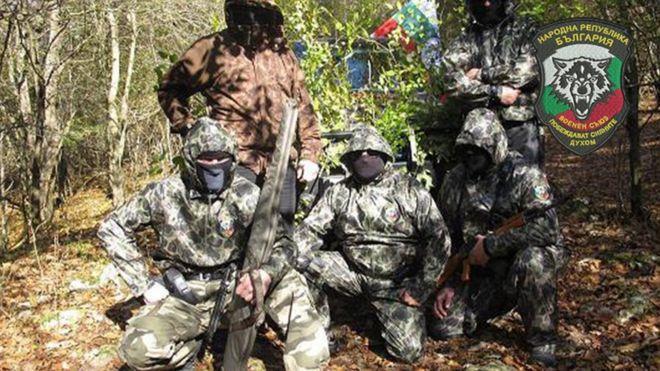 Membros da União Militar Búlgara Vasil Levski e do Movimento Nacional Búlgaro Shipka