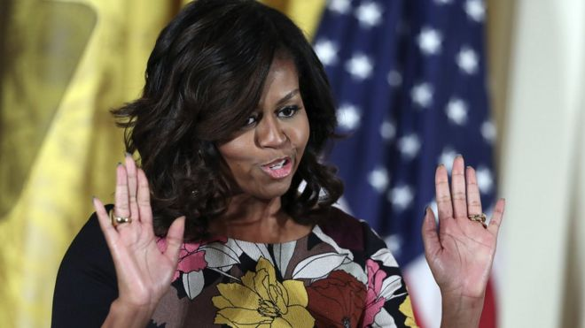 First lady Michelle Obama speaks at a Mayor's Challenge to End Veterans