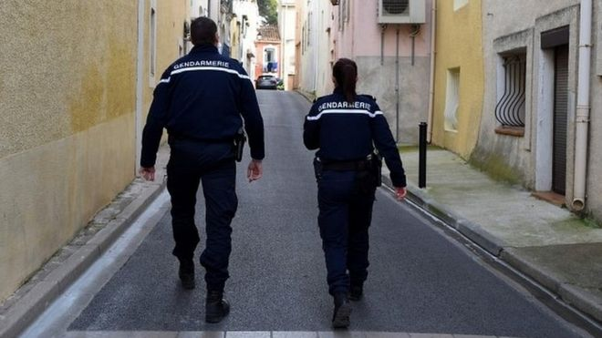 File photo of French police