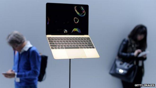 MacBook on display