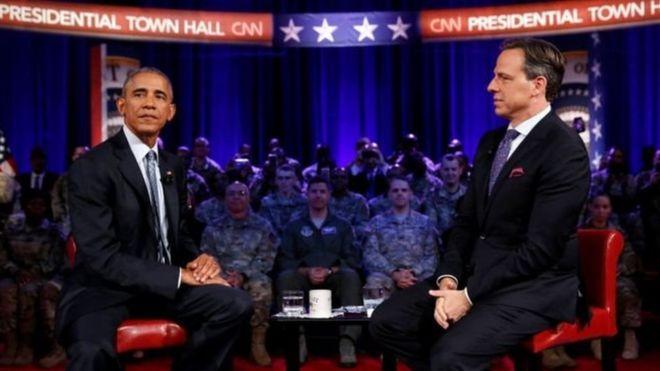 Barack Obama, presidente de EE.UU., en una una entrevista con CNN.