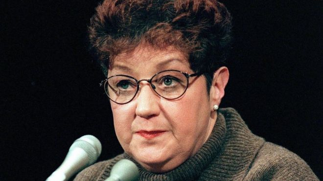 This 21 January, 1998, file photo shows Norma McCorvey, the woman at the center of the US Supreme Court ruling on abortion