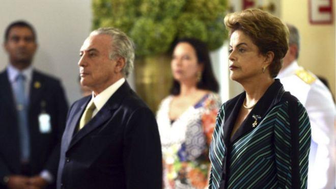 Michel Temer e Dilma Rousseff