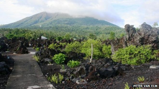 Gamalama volcano