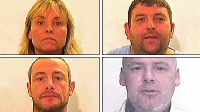Image caption Clockwise from left: Sharon Carey, Christopher Bruce, Stephen Townsley and John Souter - _68147773_unicorn_montage