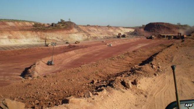 Mining firm desecrated Australia Aboriginal site   BBC News Mining taking place at the Bootu Creek Aboriginal site    June