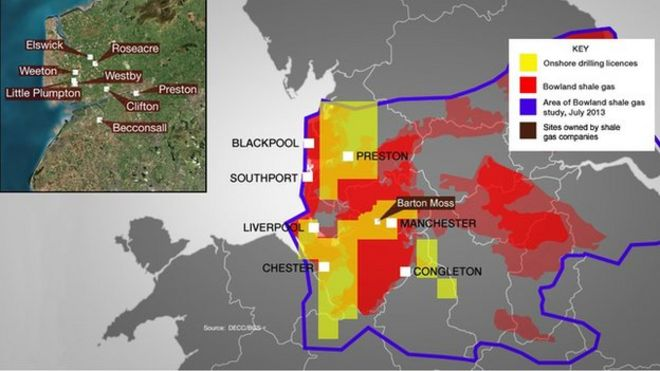 uk Shale Gas Reserves Map Map Showing Shale Gas Deposits
