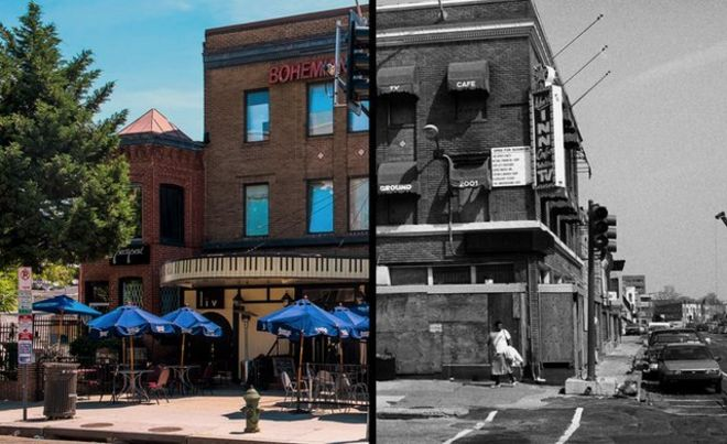 Before and after of a DC club near Shaw