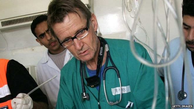 Dr Mads Gilbert at work in Gaza in 2009