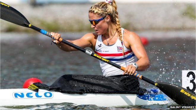 Rebeka Simon kayak