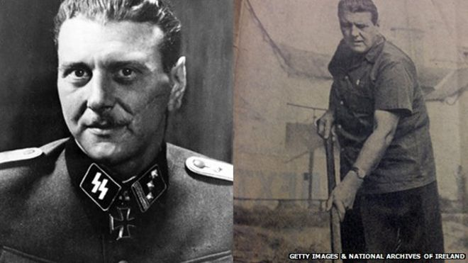 Otto Skorzeny in his Nazi uniform, and working on his farm in County Kildare