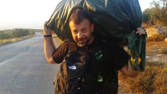 Rami Adham durante a viagem