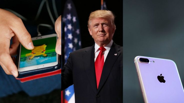 Pokémon Go,. Trump y iPhone 7