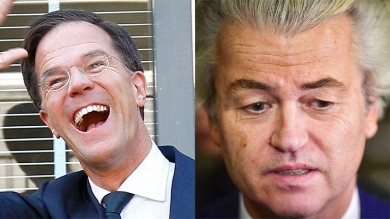 Mark Rutte y Geert Wilders