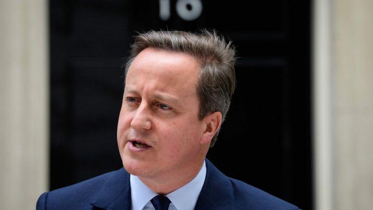 David Cameron outside 10 Downing Street