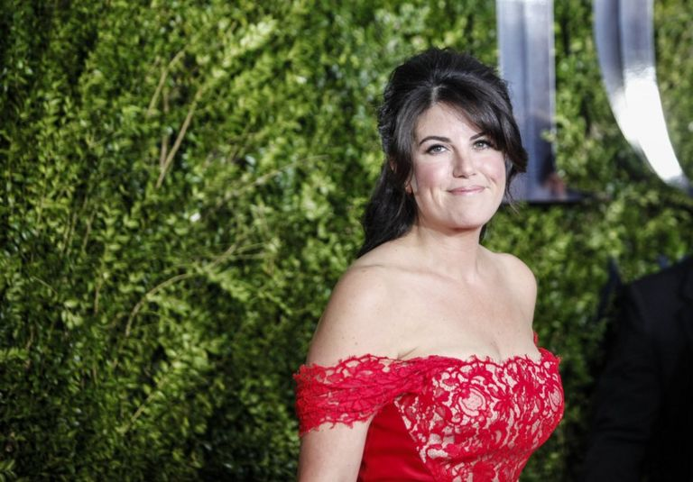 Monica Lewinsky poses on arrival for the American Theatre Wing's 69th Annual Tony Awards at the Radio City Music Hall in New York City on 7 June 2015
