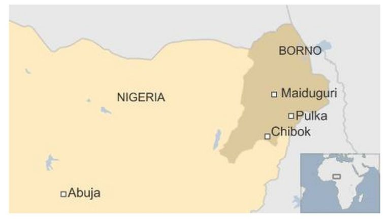 BBC map of Nigeria showing Pulka