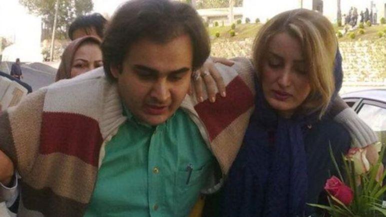 پیمان عارف در زمان حضور در ایران و پس از اجرای حکم شلاق در زندان اوین