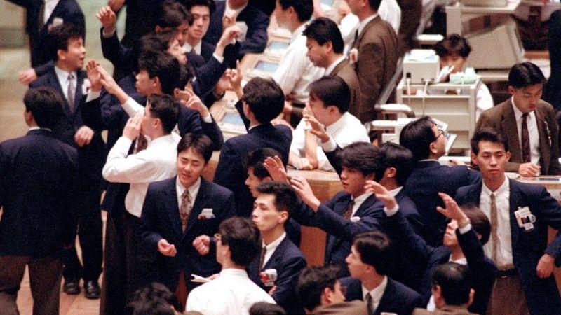 Торги на Токийской фондовой бирже в марте 1992 года