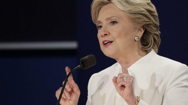 Clinton at the debaet