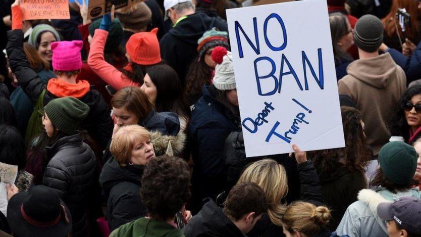 Nhiều nơi đã có biểu tình phản đối chính sách của ông Trump