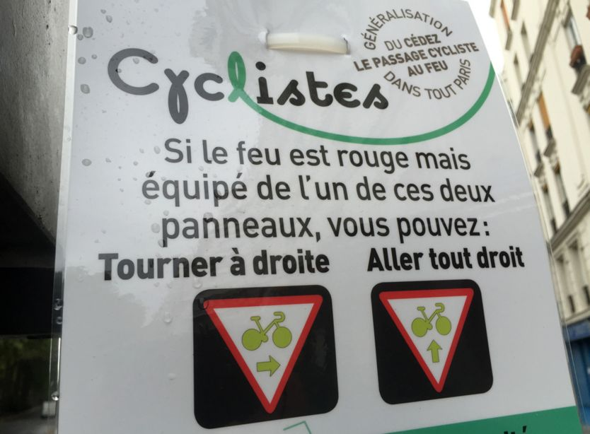 New sign in Paris that reads: