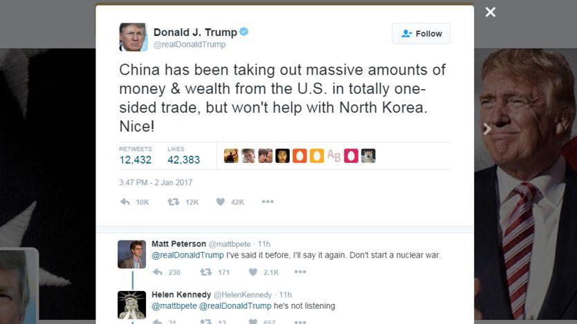 Lời Twitter của ông Trump nhạo Trung Quốc 'Hay nhỉ!'