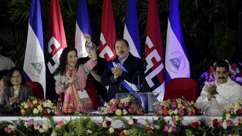 La mandataria taiwanesa con Daniel Ortega y Nicolás Maduro