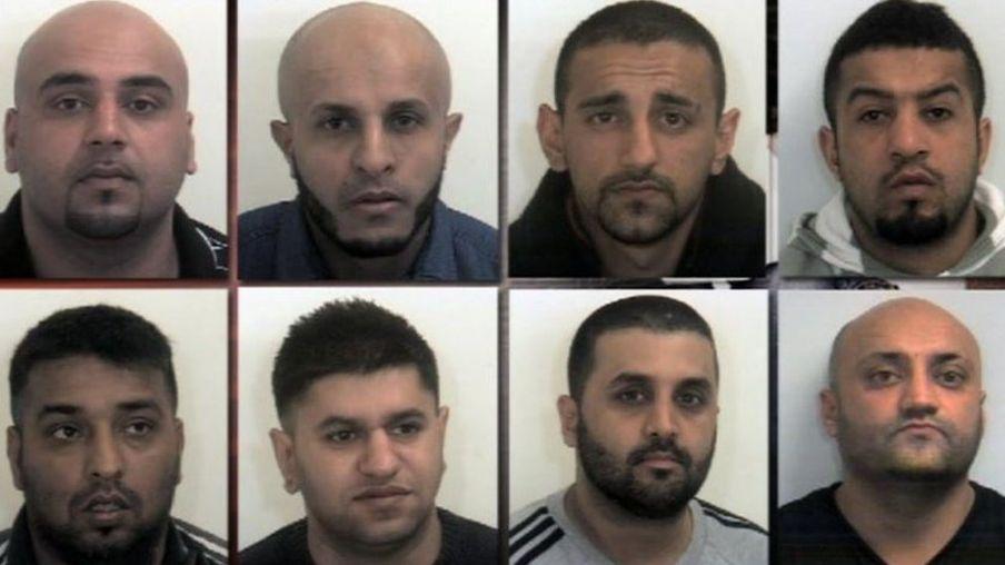 From top, L-R: Asif Ali Waleed Ali, Sageer Hussain, Naeem Rafiq, Mohammed Whied, Masoued Malik, Ishtiaq Khaliq and Basharat Hussain