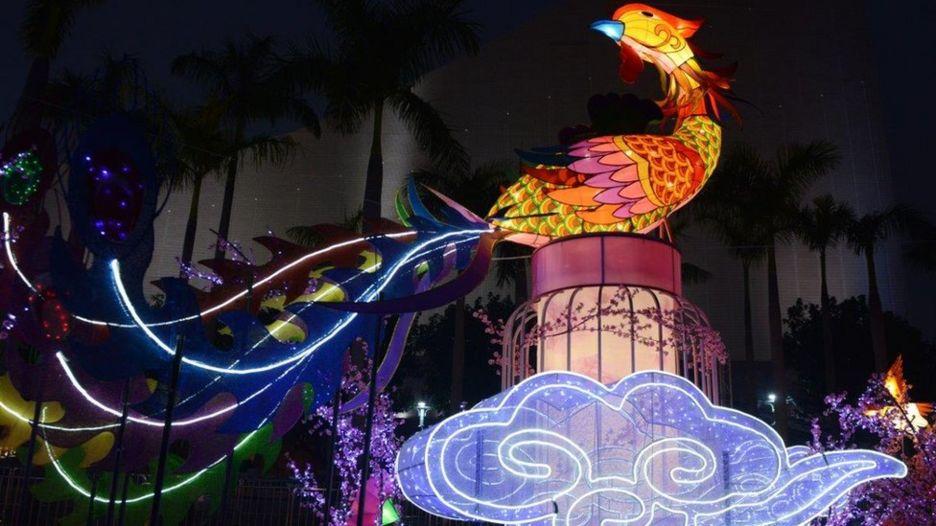 Con Gà trong hội đèn lồng ở Hong Kong