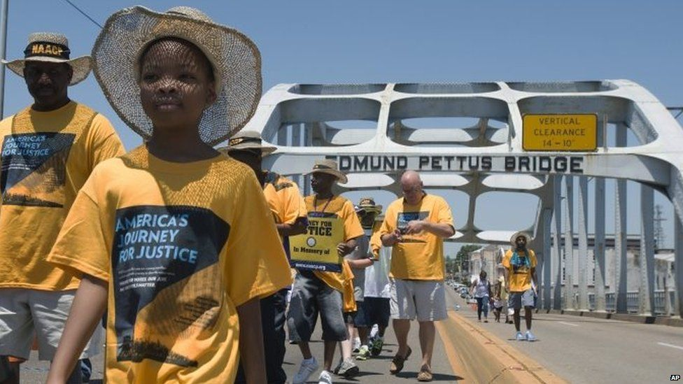 New US rights march starts in Selma...