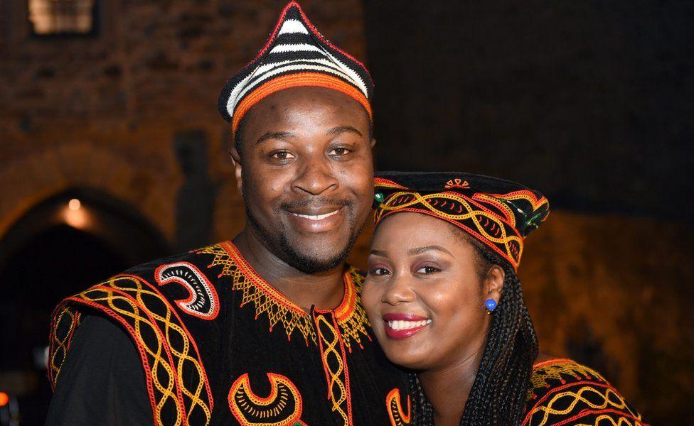 Samuel Awasum and his wife Jacinta Awusa Awasum in Ratingen , Germany - Monday 12 Septembe 2016