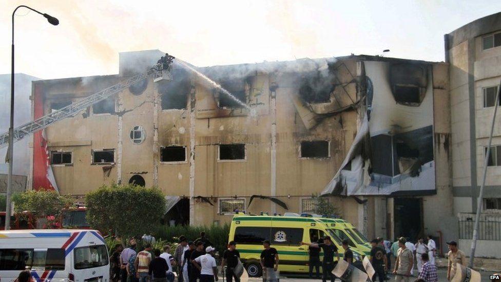 Egypt factory fire kills at least 25...