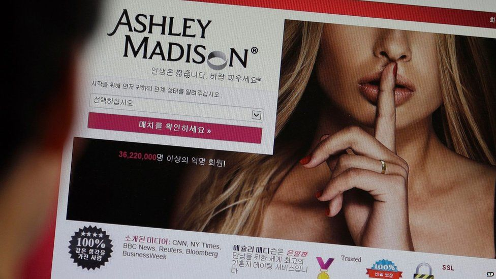 Ashley Madison website