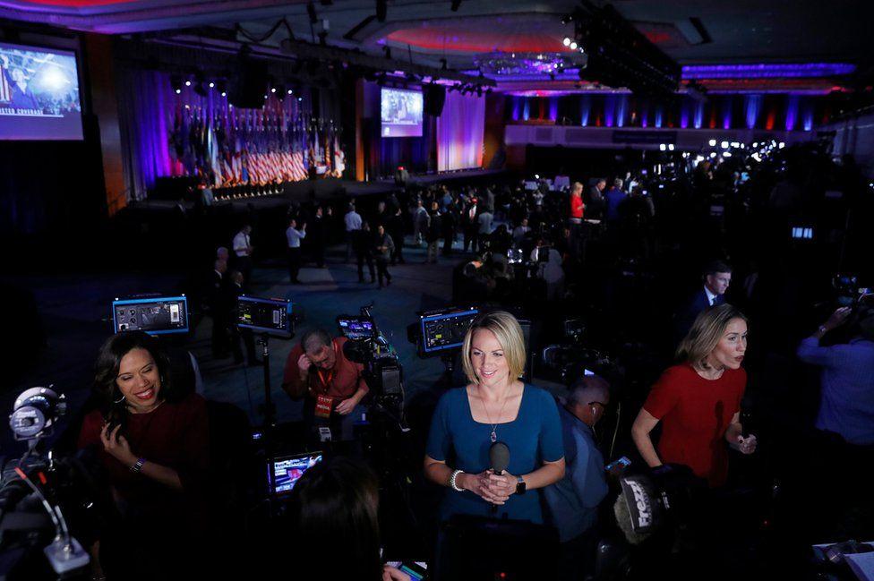 Reporters speak on-camera