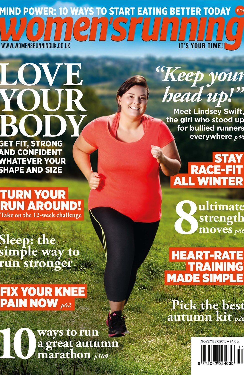The cover of Women's Running featuring Lindsey Swift